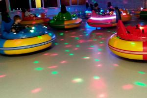 UFO hall with bumper cars