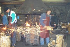 Archaic blacksmithing demonstration