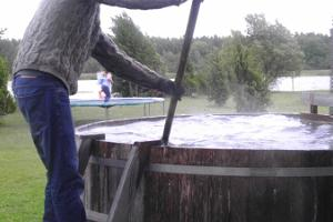 Outdoor hot tub at Paatsalu Holiday Centre