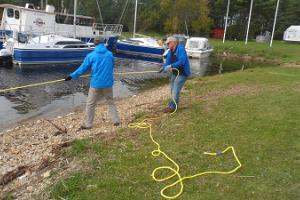 Practising at Paatsalu harbour
