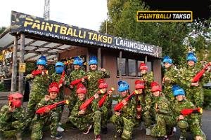 Paintball battle base in Tallinn