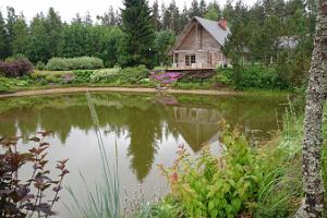 Sauna and ponds