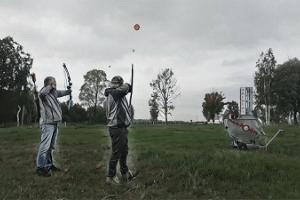 Archery with a moving target