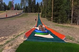 Summer tubing at Valgehobusemäe Skiing and Holiday Centre