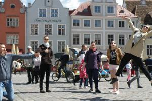'Mission Impossible' team photo game in Tallinn Old Town