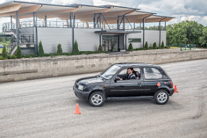 Take a trick car for a slalom ride at LaitseRallyPark!