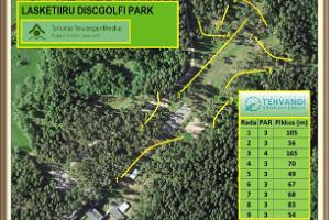 Disc golf park at Tartu County Recreational Sports Centre