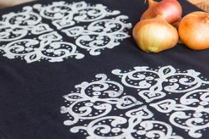 Hand-made printed cloth