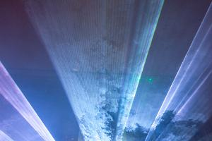 177th Anniversary of St. Mary's Church in Tartu: lasershow by T. Kikas