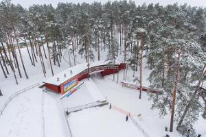 Skiing trails and ski rental at Jõulumäe Sports and Recreation Center