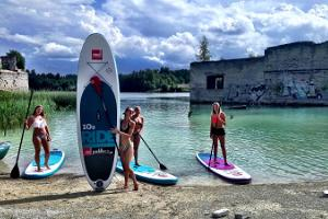 Canoe, raft and inflatable raft trips in Rummu quarry
