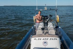 Marko Matvere thinks that if you need to go to the sea, Oosaare sea taxi is the best choice!