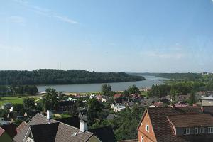 View to Lake Viljandi from the town of Viljandi