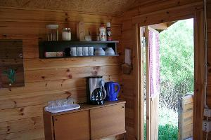 Mini-kitchen of a camping house