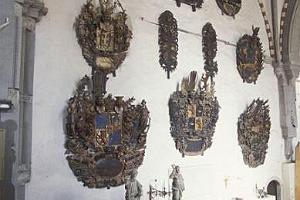 Coat of arms epitaphs in the cathedral