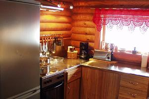 Markna Tourist Farm, kitchen in the sauna house