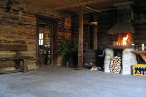 Recreation room in the Männi Farm smoke sauna building