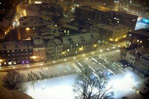 View of the ice rink from St Nicholas