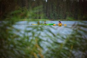 Kayaking on Lake Pühajärv